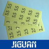 Etiqueta engomada a prueba de mal tiempo impresa pantalla de seda de la insignia de encargo