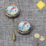 China los valores de fábrica Metal Pasador Bage botón personalizado