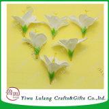 Narciso de seda de simulación de cabezas de flores Orquídea artificial bricolaje Bodas