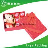 Fleur de Design de Mode personnalisé à l'emballage carton boîte cadeau avec le ruban de papier