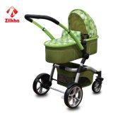 Carrello-Automobile del bambino di colore verde con il blocco per grafici e due in uno