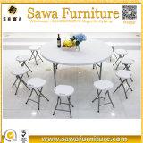 販売のための円形の屋外のプラスチック折りたたみ式テーブル