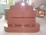インド赤の花こう岩の墓石、西部様式およびロシアの記念碑及び墓碑