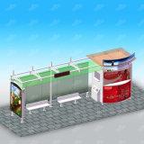 주문을 받아서 만들어진 디자인 혁신 버스 대기소