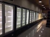 Armario refrigerado Multideck integral con puerta de vidrio y vertical de iluminación LED