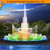 Специальный цветастый музыкальный фонтан танцы
