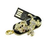 最も安いペン駆動機構16GB水晶犬USBのフラッシュ・メモリの棒