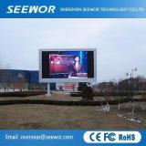 Bonne étanche extérieur fixe P8mm affichage LED en couleur avec cabinet de 1024*1024mm
