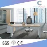 Tabella semplice moderna L scrivania dell'ufficio di figura con il Credenza (CAS-MD18A95)