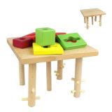 Giocattoli educativi di Montessori dei bambini delle particelle elementari intellettuali di legno della pila