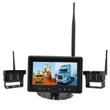 monitor de 2cameras 7inch para el carro con las cámaras de la radio del Rearview de Sideview/