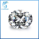 Corte brillante Oval 9x7mm Color Diamante Moissanite 1.5cts Ij