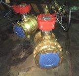 A ANSI150lbs 300lbs 600lbs Cooper Válvula Esférica flangeada de Bronze com Caixa de Engrenagens