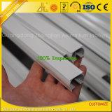 Profils en aluminium blancs de revêtement de longeron de rideau en poudre faite sur commande