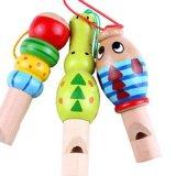 Hölzerne Kind-Musikinstrument-pädagogische Spielzeug-Kind-Karikatur-Tierpfeife