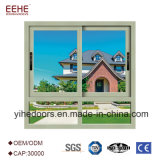 Schiebendes Aluminiumfenster mit freiem isolierendem Glas