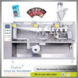 粉のための自動水平の流れ形式の盛り土のシール機械