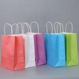 Kundenspezifische Packpapier-Einkaufstasche-dekorative Papiertüten Brown-