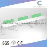 Ufficio di legno Workstaiton CAS-W1801 del divisorio di verde della Tabella della mobilia diritta di figura