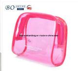 Las señoras baratas promocionales del diseño simple del regalo borran el bolso cosmético del PVC con vario color