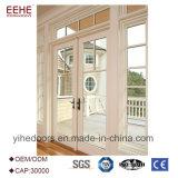 Нутряная дверь офиса с дверью качания стеклянного окна алюминиевой двойной для корридора