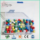 De geassorteerde Speld van de Kaart van de Bal van Kleuren Plastic Ronde Hoofd