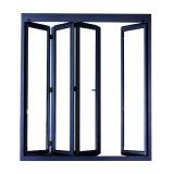 Portello Bifold di alluminio esterno di vetro Tempered dell'espulsione
