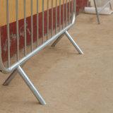 Cerca galvanizada del control de muchedumbre de los pies de la garra de la seguridad del acontecimiento