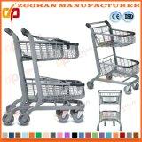 Европейским тележка вагонетки покупкы супермаркета провода типа катят металлом, котор (Zht190)