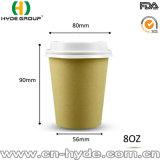 8 Unze-Bambusfaser-Papiercup für den Kaffee ungebleicht