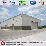 La calidad garantizó el diseño prefabricado de Warehosue del marco de acero del palmo grande