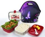 Neoprene Lunch Bag Thermal de Madame a isolé le cadre de déjeuner de tirette pour l'emballage de sac à main de déjeuner de refroidisseur de course de pique-nique d'emballage de sac de nourriture de femmes