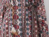 Mulheres de poliéster OEM elegante vestido longo saia de praia de moda