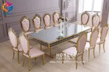 Cerimonia nuziale dell'hotel dell'oro che pranza la nuova presidenza dell'acciaio inossidabile di disegno (HLY-ST16)