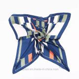 Promo-Geometic gedruckter Silk nachgemachter quadratischer Schal (Hz77)