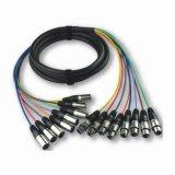 Fase XLR Snake cabo multiaxial com cabo de ligação do cabo (JFA4)