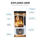 Precio automático con bebidas calientes /comida o bebida /máquina expendedora de café F303V