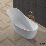 Salle de bains en marbre blanc noir Pierre Surface solide baignoire autostable