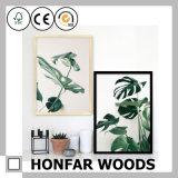 Bâti normal de photo d'illustration en bois solide pour la décoration de barre de salon