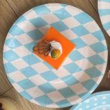 Las placas de papel desechables colorida Fiesta de cumpleaños decoración de la placa de pastel plato barbacoa cocina vajilla