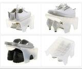 最も新しいデザインペアの靴のためのプラスチック現代靴ラック