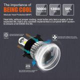 De alta potencia al por mayor de tres lados Super brillante 8000LM 40W H7 9005 9006 H11 H4 Fan faros LED Bombilla