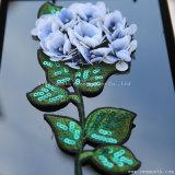 Fleur Rhinestone Patch 3D de broderie de perles Sequin Crystal accessoires de vêtements