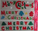 La navidad de la ventana Glitter Gel Jelly pegatinas (XM-C-1088) Decoración de Navidad