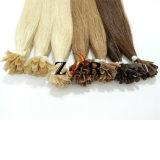 安いブラジルのバージンのRemy Uの先端の人間の毛髪の拡張製品は卸し売りする