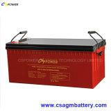 Accumulateur solaire rechargeable 12V200ah pour le système énergétique de pouvoir