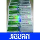 Escrituras de la etiqueta autas-adhesivo del frasco del holograma 10ml de la seguridad impermeable