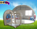 Hot waterproof inflatable tent transparent air inflatable bubble tent clear dome tent for camp-site
