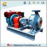 농장 관개 수평한 단단 단 하나 흡입 디젤 엔진 수도 펌프