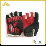 Los dedos de la mitad del ciclo de la almohadilla de gel antideslizante guantes
